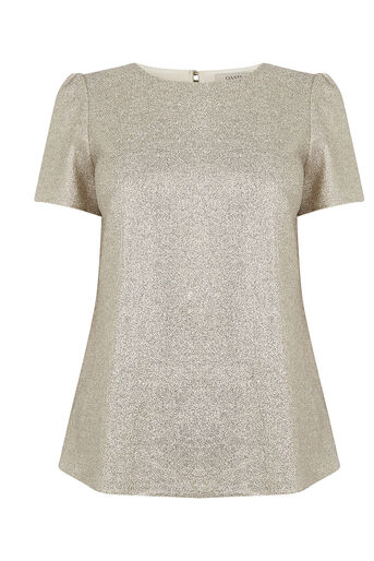 Oasis, METALLIC FORMAL TEE Gold 0