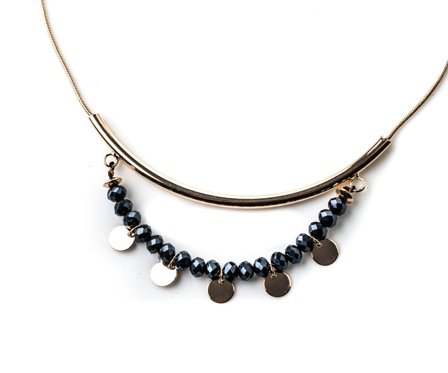 Oasis, BEADED BAR NECKLACE Gold 1