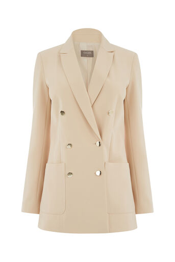 Oasis, SAFARI SUIT JACKET Mid Neutral 0