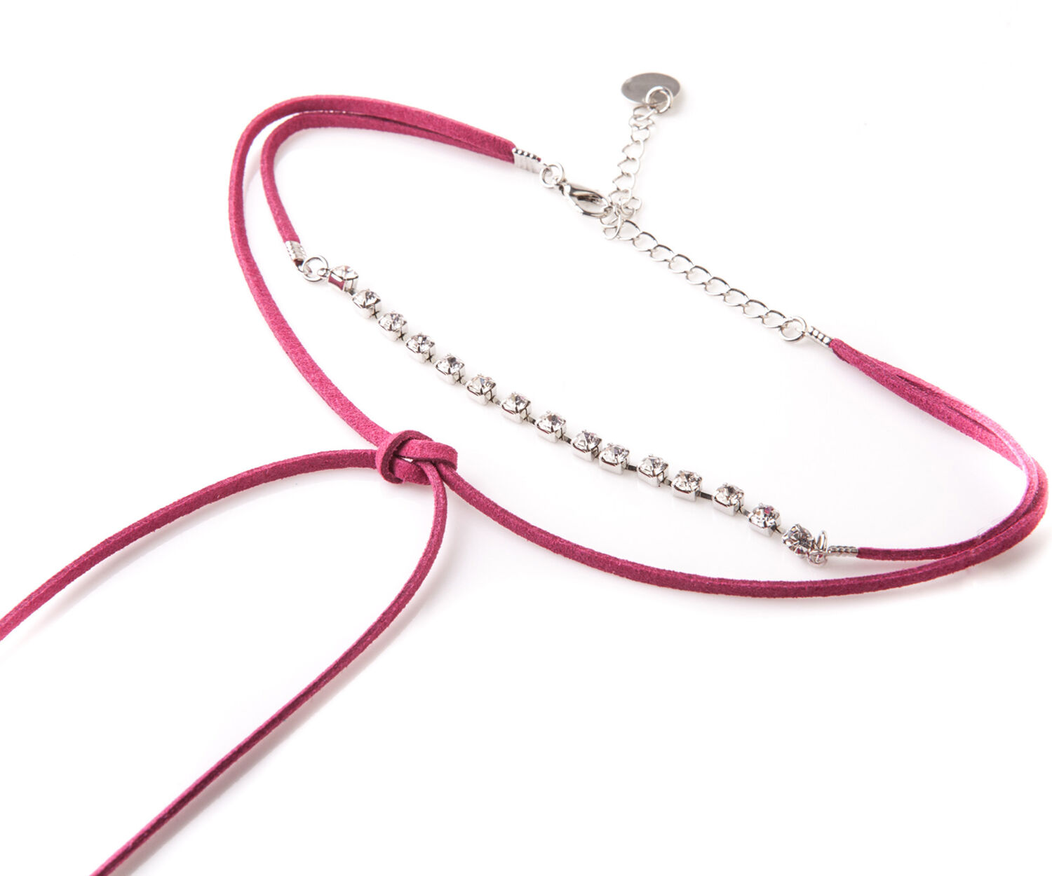 Oasis, PINK SUEDE CHOKER Bright Pink 1