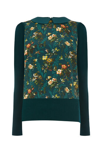 Oasis, ROSSETTI WOVEN KNIT Turquoise 0