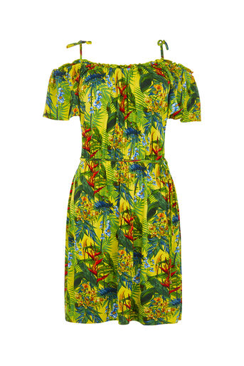 Oasis, TROPICAL PRINT CAMI DRESS Multi Yellow 0