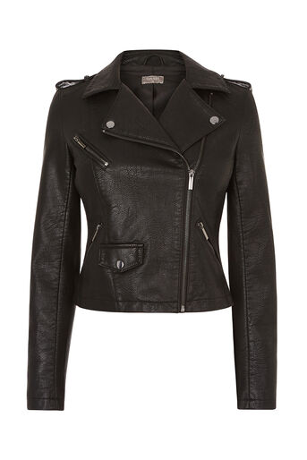 Oasis, FAUX LEATHER BIKER Black 0