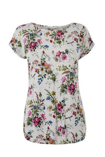 Oasis, Rosanna T-Shirt Mid Grey 0
