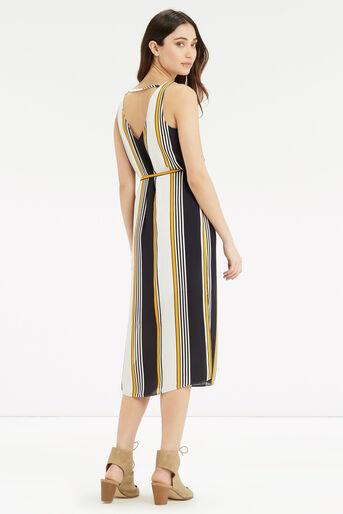 Oasis, Stripe Midi Slip Dress Multi Blue 3