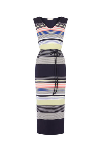 Oasis, Stripe Midi Dress Multi 0