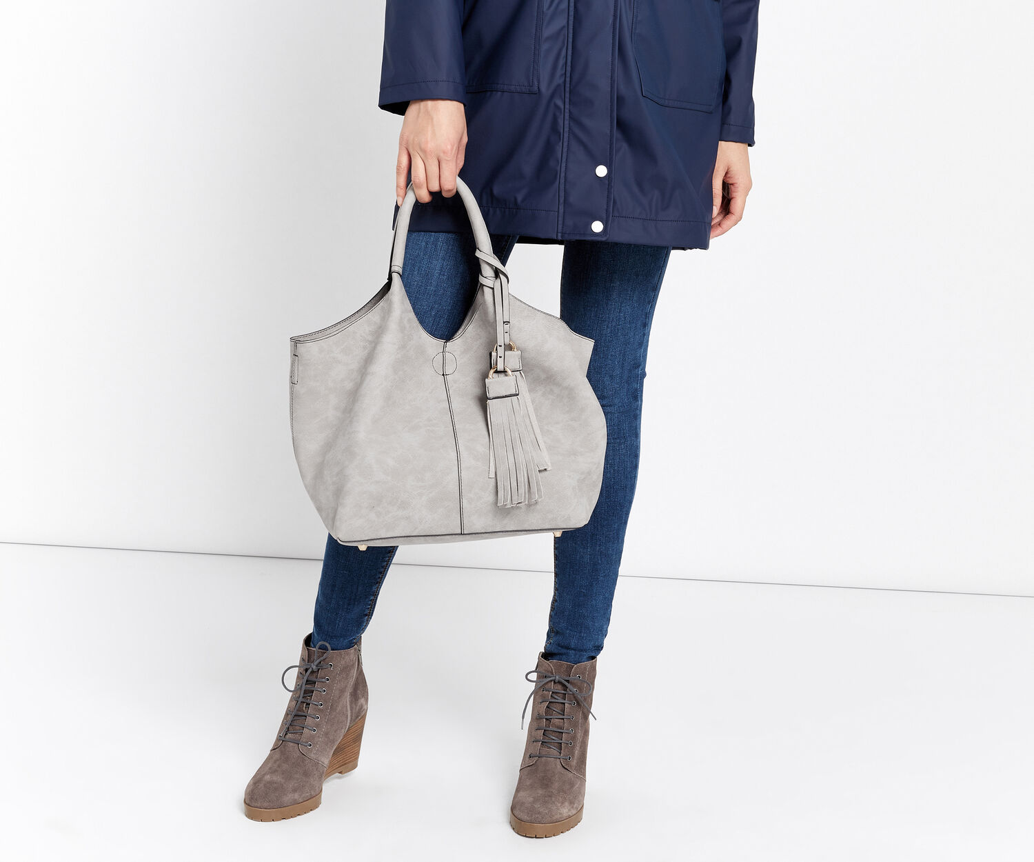 Oasis, MAGGIE TOTE Pale Grey 1
