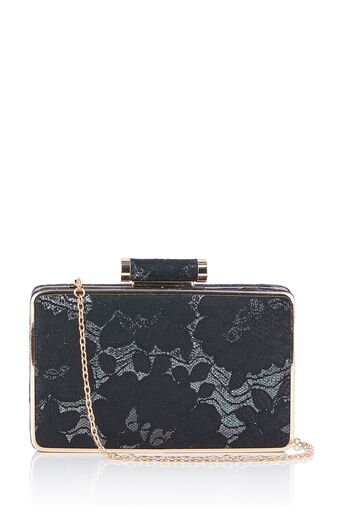 Oasis, NTU LACE BOX CLUTCH Multi Black 0