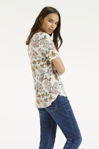 Oasis, Opium Print T-Shirt Mid Grey 3
