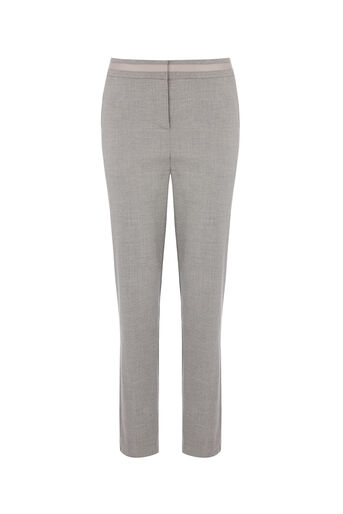 Oasis, LONG INES TROUSER Mid Grey 0