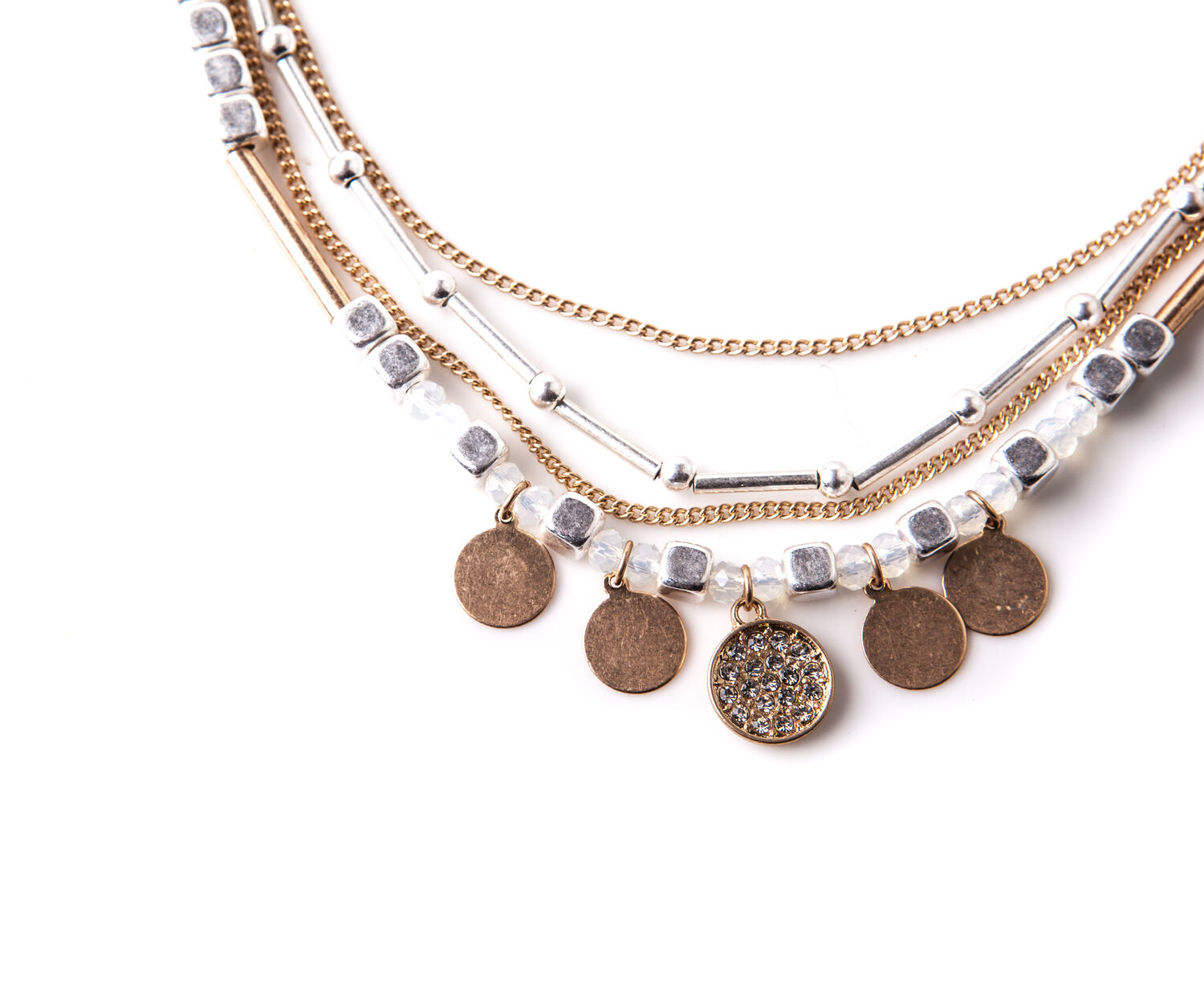 Oasis, LAYERED PLATED NECKLACE Multi 1