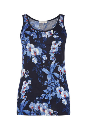 Oasis, TROPICAL BOTANICAL VEST Multi Blue 0