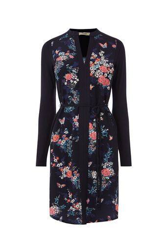 Oasis, KIMONO SHIRT DRESS Multi Blue 0