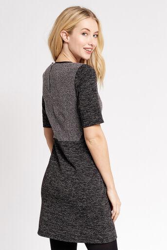 Oasis, TWEED SHIFT DRESS Mid Grey 3