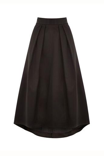 Oasis, Satin Dip Hem Skirt Black 0