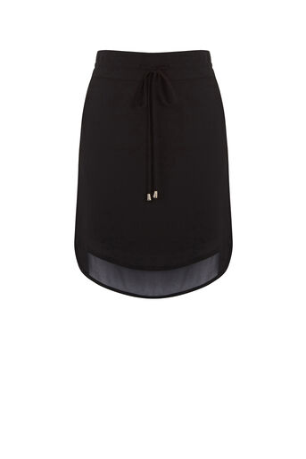 Oasis, SPORTY CHIFFON SKIRT Black 0