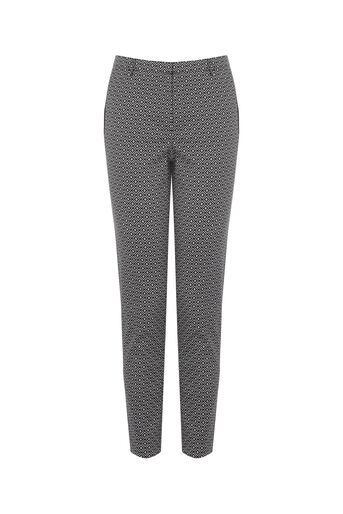 Oasis, Diamond Geo Trouser Multi Black 0