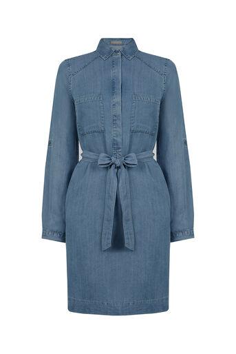 Oasis, Bertie Shirt Dress Denim 0