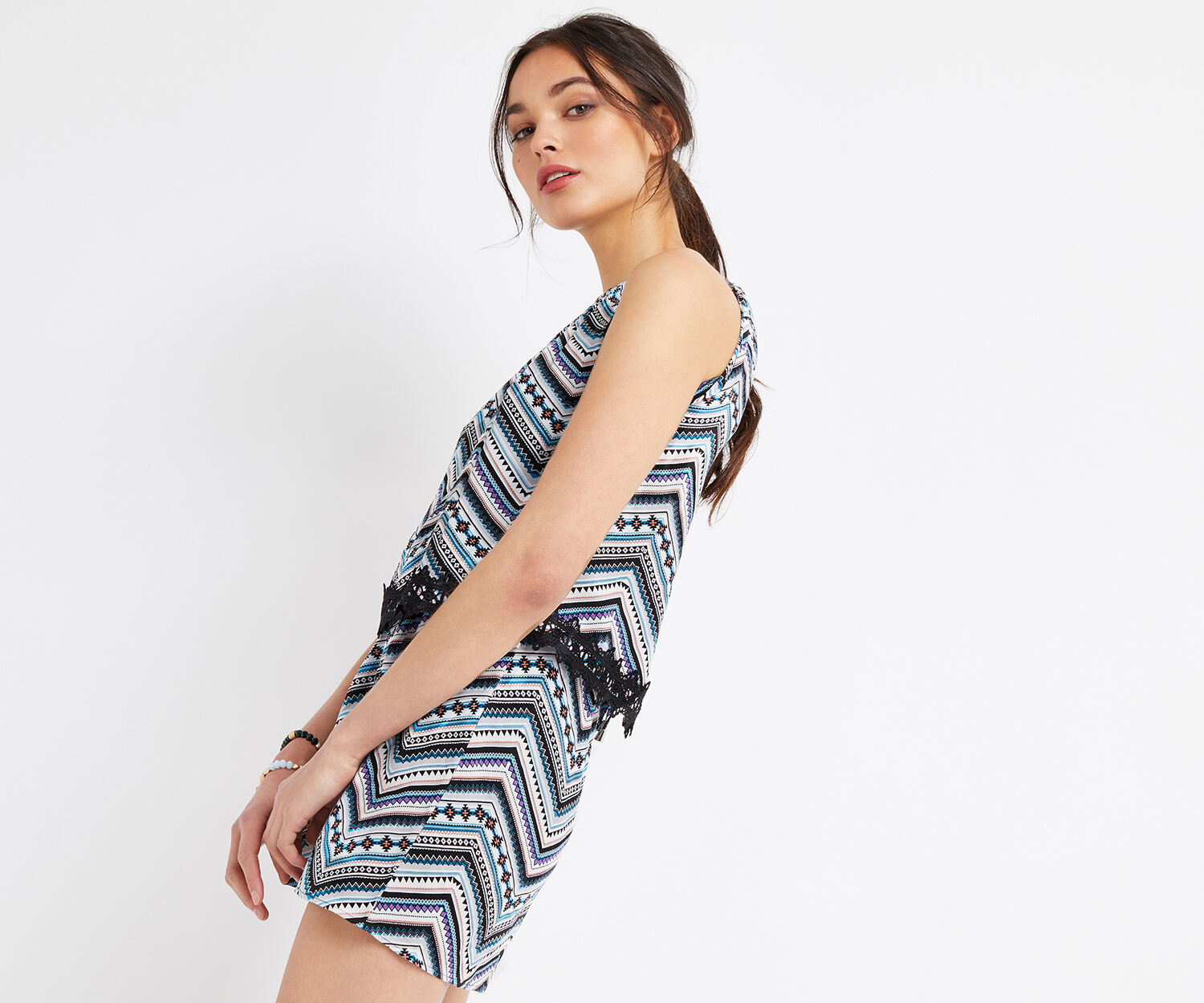 Oasis, AZTEC PRINT PLAYSUIT Multi 1