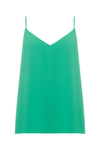Oasis, V NECK CAMI Mid Green 0
