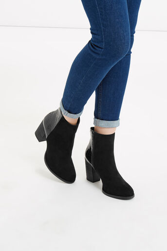 Oasis, MADDIE SNAKE PATCHED BOOT Black 4