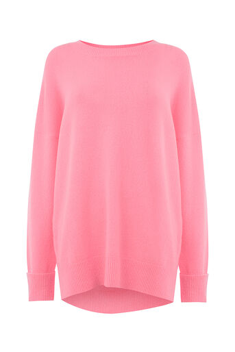 Oasis, OVERSIZED PERFECT CREW Mid Pink 0