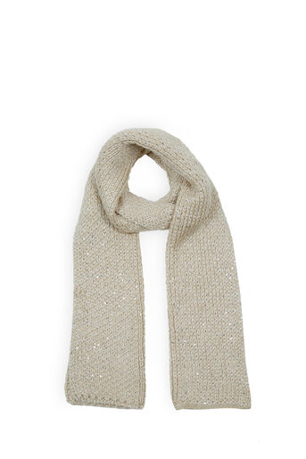 Oasis, SEQUIN SCARF Mid Neutral 0