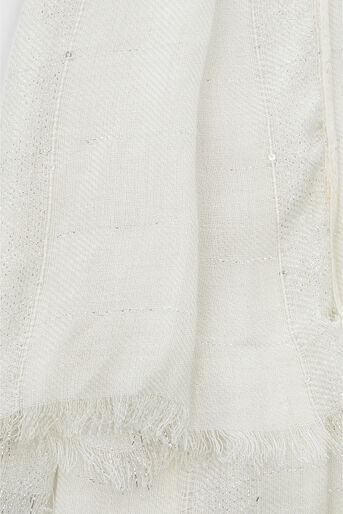 Oasis, Sequin Scarf White 2