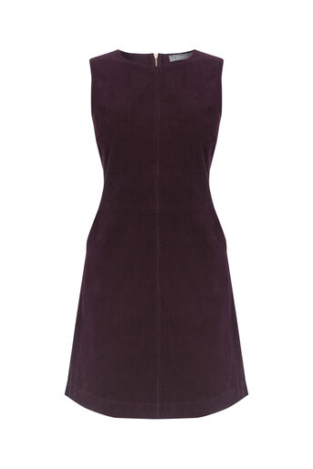 Oasis, Cord shift dress Burgundy 0