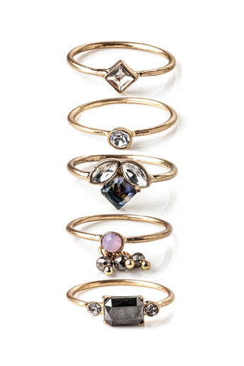 Oasis, PRETTY RING SET Rose Gold 0