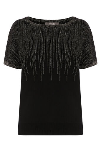 Oasis, OMBRE SPARKLE TEE Black 0