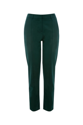 Oasis, COMPACT COTTON TROUSER Deep Green 0