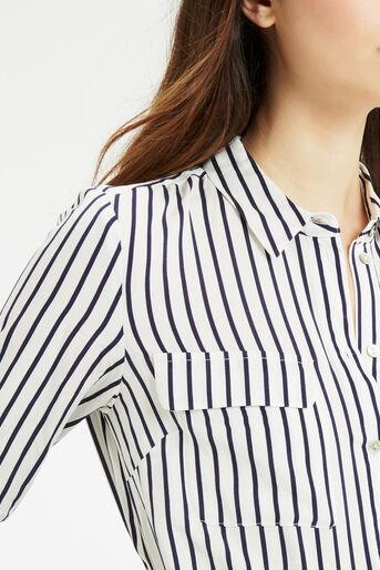 Oasis, Stripe Shirt Multi Blue 4