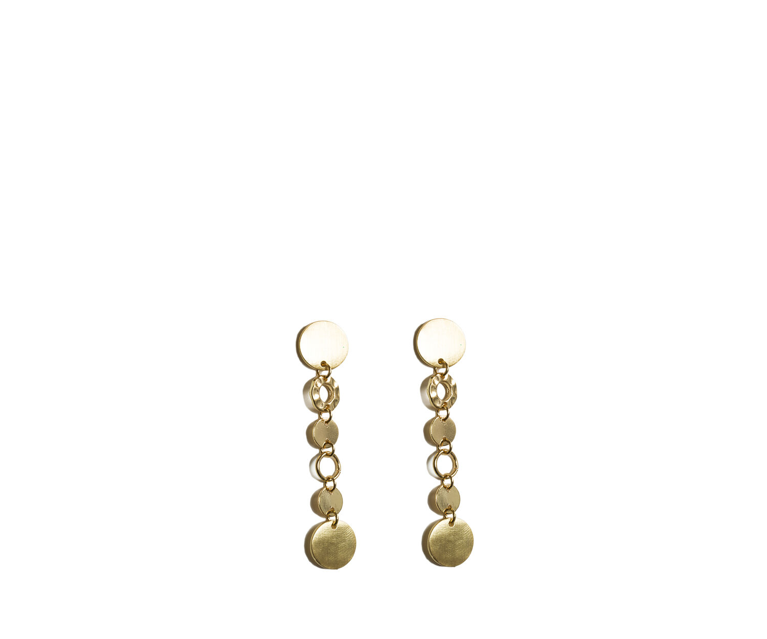 Oasis, CIRCLE LINK DROP EARRINGS Gold 1