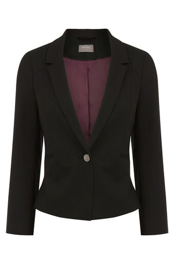 Oasis, PETITE CLARA WORKWEAR JACKET Black 0