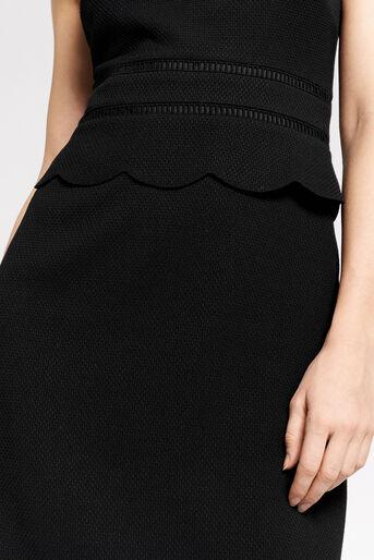 Oasis, SCALLOP SHIFT DRESS Black 4
