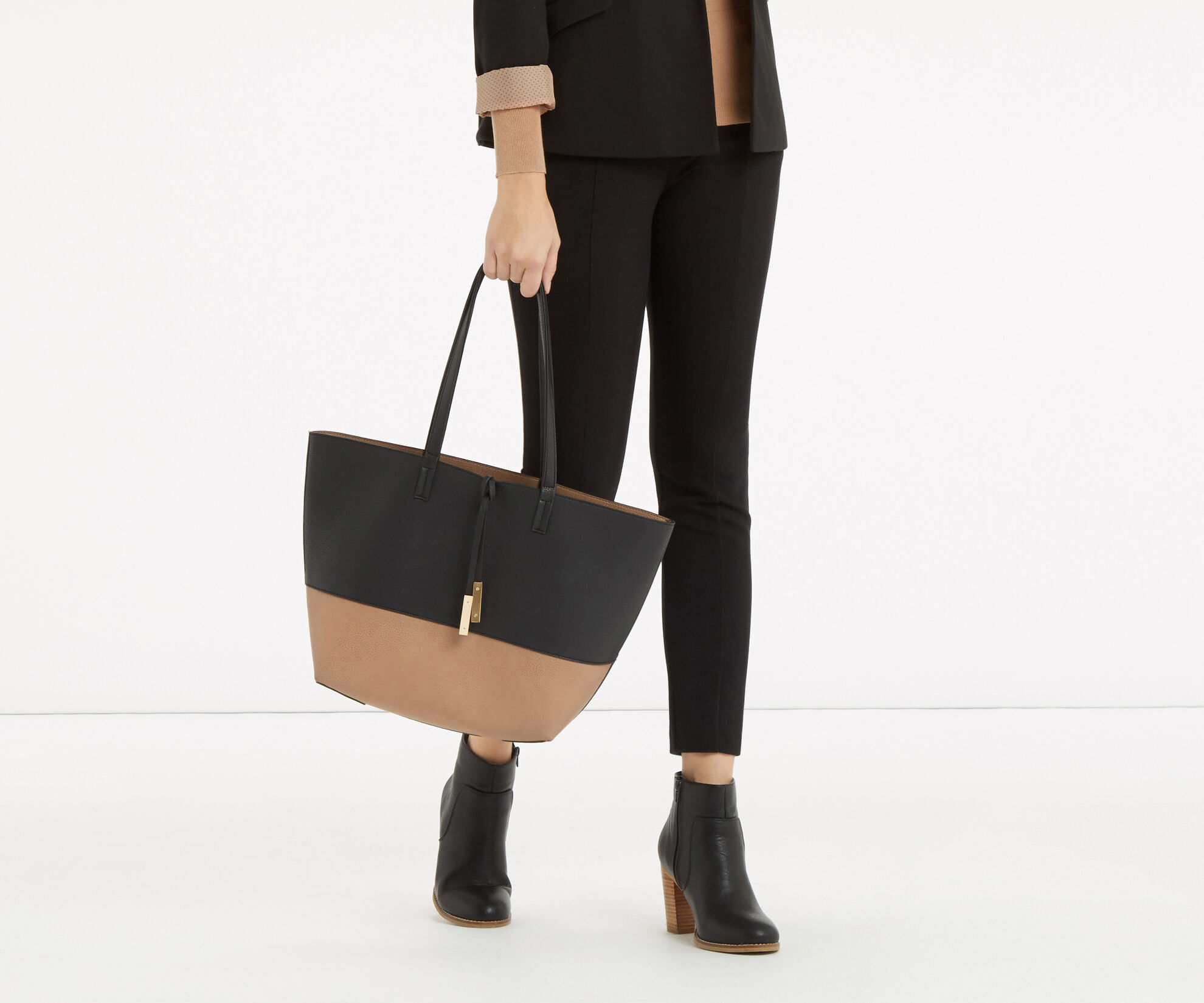 Oasis, Patched Reversible Shopper Multi Black 1