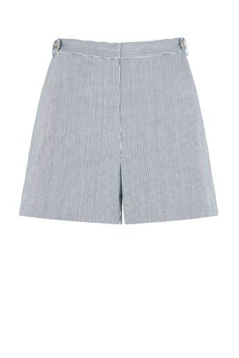 Oasis, Ticking Stripe Short Multi Blue 0