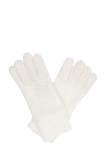 Oasis, BRUSHED KNITTED GLOVES Cream 0