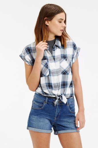 Oasis, Roll Sleeve Check Shirt Multi 1
