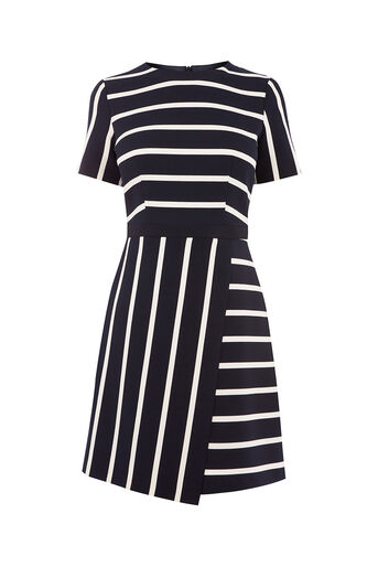 Oasis, CUTABOUT STRIPE SHIFT DRESS Multi 0