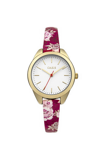 Oasis, Floral Strap Watch Multi Red 0