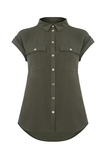 Oasis, SOFT SAFARI SHIRT Deep Green 0