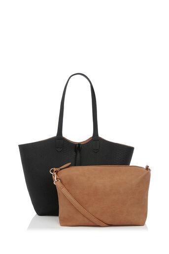 Oasis, Ruby Reversible Shopper Multi Black 2