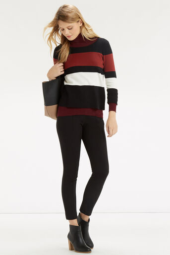 Oasis, Colour Block Crop Knit Multi 2