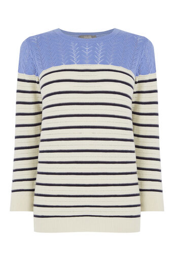 Oasis, Summer Pointelle Knit Off White 0
