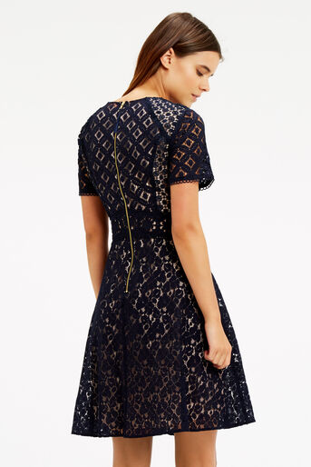 Oasis, Patched Lace Skater Navy 3