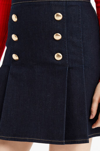 Oasis, Military skirt Dark Wash 4