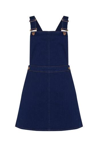Oasis, Dungaree Denim Dress Denim 0