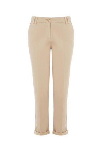 Oasis, EMMY CHINO TROUSER Mid Neutral 0
